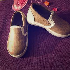 Michael Kors toddler girls slip on shoes